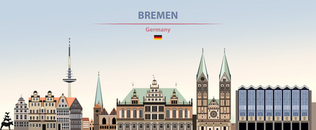 illustration of the city skyline of Bremen Standard-Bild - 122398164