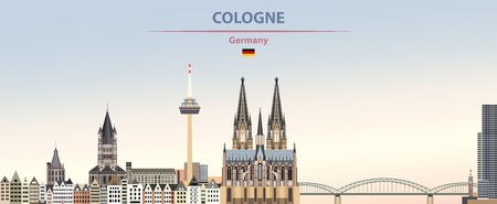 illustration of the city skyline of Cologne Standard-Bild - 122398162