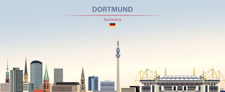 illustration of the city skyline of Dortmund Standard-Bild - 122398163