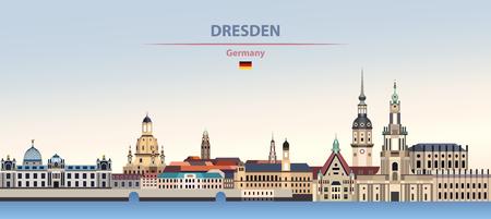 illustration of the city skyline of Dresden Standard-Bild - 122398166