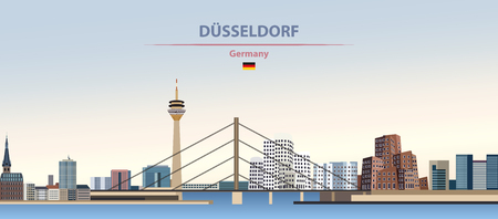 illustration of the city skyline of Dusseldorf