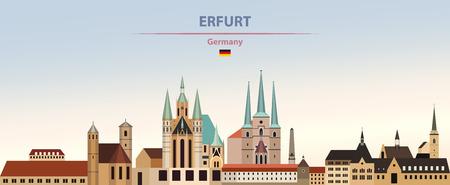 illustration of the city skyline of Erfurt