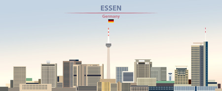 illustration of the city skyline of Essen