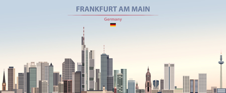 illustration of the city skyline of Frankfurt am Main