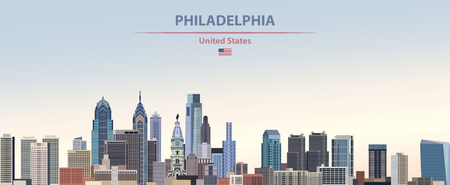 illustration of the city skyline of Philadelphia