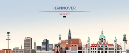 illustration of the city skyline of Hannover Standard-Bild - 122398790