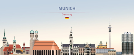 illustration of the city skyline of Munich