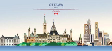illustration of the city skyline of Ottawa Иллюстрация
