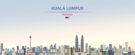 illustration of the city skyline of Kuala Lumpur