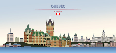 illustration of the city skyline of Quebec Иллюстрация