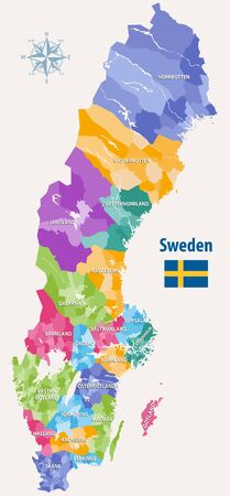 vector map of Sweden Иллюстрация