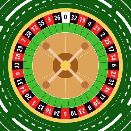 Vector illustration of casino roulette wheel