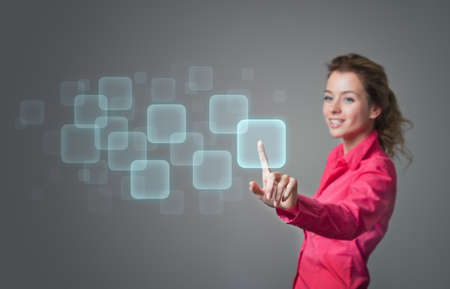 Perfect IT concept  Copy-space  Touch screen visualization Stock Photo - 14069416