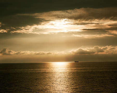 Dramatic HDR Sunset at the Sea. Stock Photo - 15844381