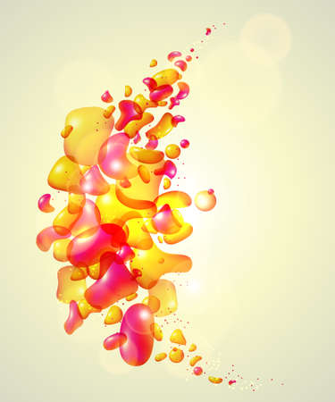 Colorful background with orange and pink bubbles Stock Photo - 15886948