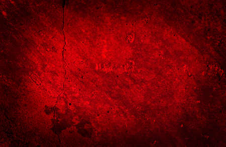 Vintage Red Cracked Wall  Beautiful Grunge Background
