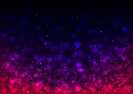 Sparkling Valentine's Day Wallpaper with Colorful Hearts Stock Vector - 17359001