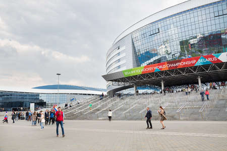 MINSK, BELARUS - MAY 9 - Minsk Arena on May 9, 2014 in Belarus  Ice Hockey 2014 World Championship  IIHF  Opening