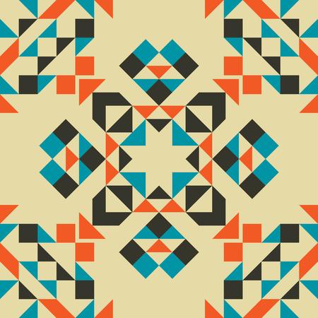 seamless pattern: Ethnic Tribal Geometric Seamless Pattern. Boho Art Background.
