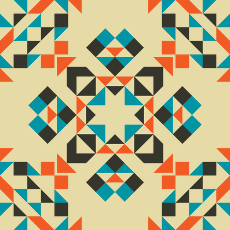 Ethnic Tribal Geometric Seamless Pattern. Boho Art Background.