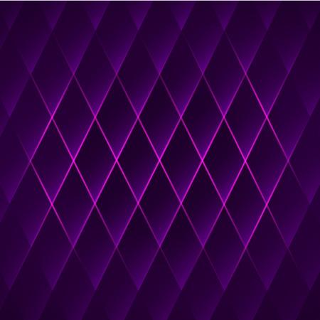 Purpere glanzende geometrische achtergrond met rhombus. Abstracte vector illustratie.