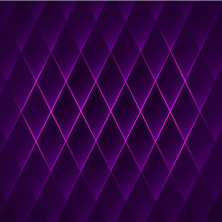 Purple shiny geometric background with rhombus. Abstract vector illustration.