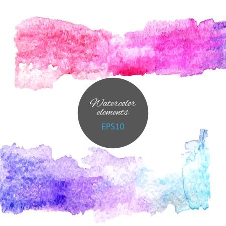 vectorized: Vectorized watercolor stripes. Colorful element for design.