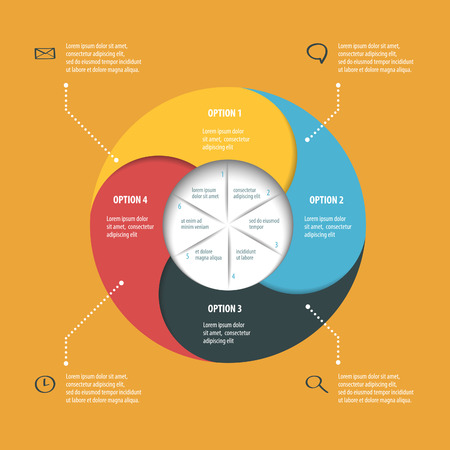 continuity: Colorful vector pie chart for your infographics