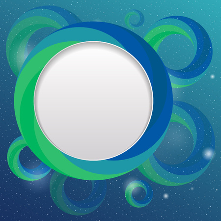 shiny background: shiny underwater bubble design template. vector background