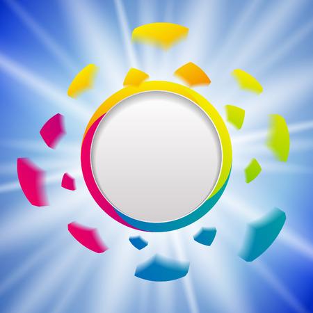 blank banner: Colorful explosion design template. Vector background. Banner concept Illustration