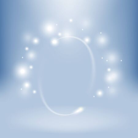 white abstract: Abstract vector shiny background. White stars on blue backdrop