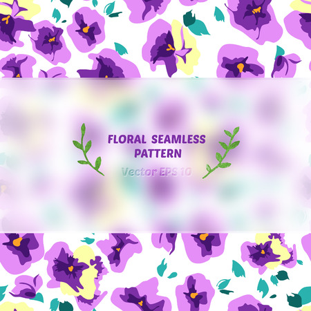 frosted: floral seamless pattern with frosted glass element