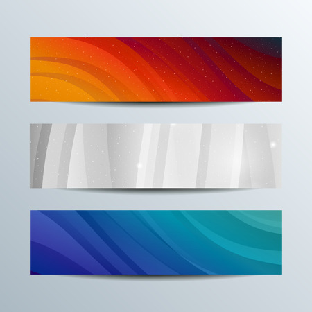 Colorful shiny waves banners. Vector template design concept.