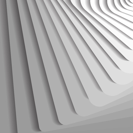 architecture abstract: White geometric background concept. Abstract illustration with steps