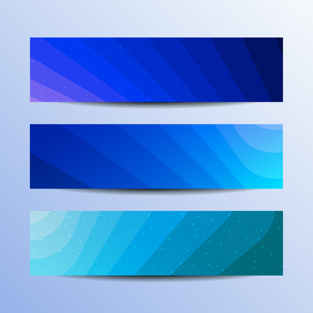 Striped blue banners concept. Vector business background