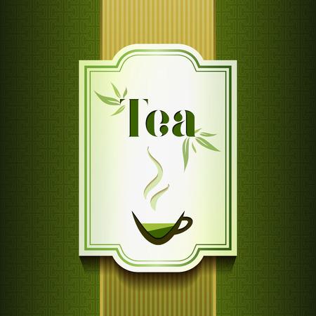 Conception de l'étiquette du thé. Packadge et concept de menu
