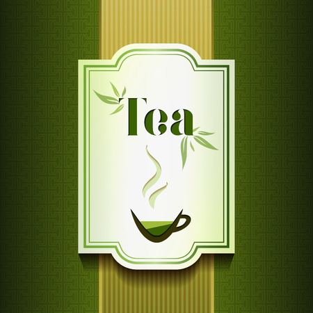 label design: Tea label design. Packadge and menu concept