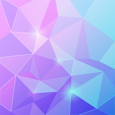 shiny background: Triangle vector shiny background. Geometric vector abstract illustration. Illustration