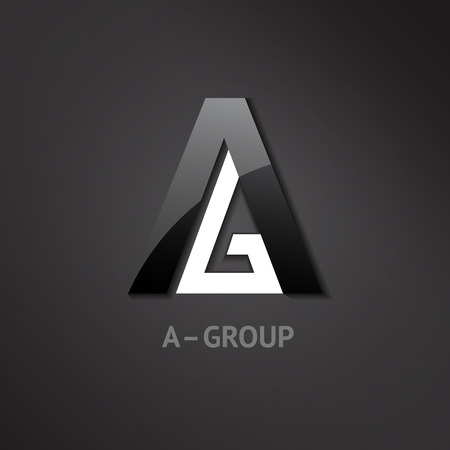 gloss: A-G letters logo. Symbol for groups companies. Vector illustration. Illustration