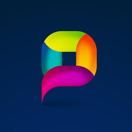 dialogo: Punto geo logo de navegación colorido. Ubicación pin ilustración símbolo del mapa vectorial. Vectores