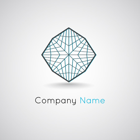 grid: Polygonal outline logo concept. Grid icon vector illustration. Illustration
