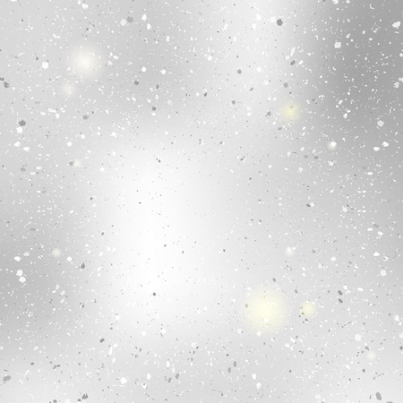 Blurred argent shine background with bokeh. Abstract silver snow pattern.