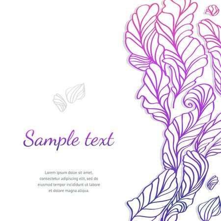 Vector beautiful design element with feathers. Hand-drawn illustration Illustration