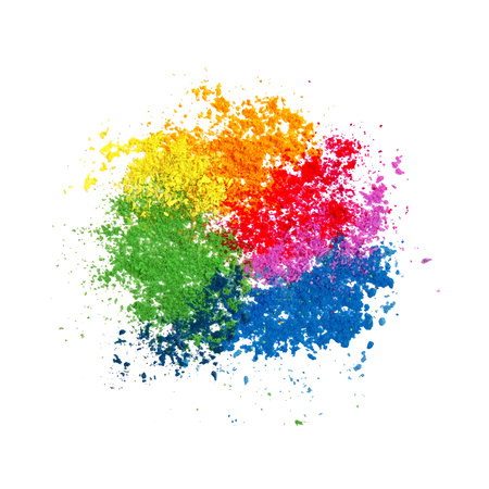 worship: Colorful powder paint. Holi festival background. Traditional indian holiday vector.