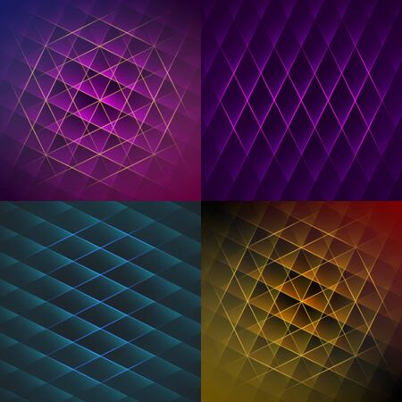 abstract backgrounds: Set of colorful geometric shiny backgrounds. Vector abstract textures.