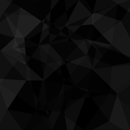 black: Black geometric triangle background. Vector abstract illustration.