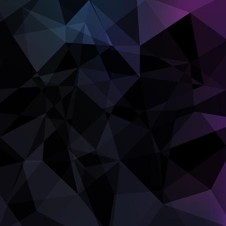 schwarz: Schwarzes Dreieck abstrakten background.Vector Low-Poly geometrische Darstellung.