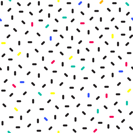 Colorful Dotted Seamless Pattern. Vector Moden Texture. Confetti Illustration.