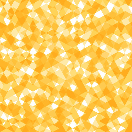 smithereens: Bright Abstract Seamless Pattern with Yellow and White Lozenges. Vector Geometric Texture.