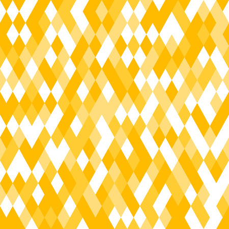 repeate: Yellow Seamless Pattern with Random Colored Mosaic. Vector geometric Texture.